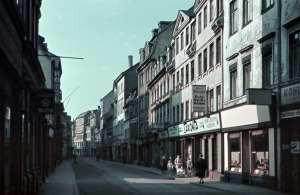 Leipzig, Gerberstraße Blick vom Georgiring nach Norden zur Parthenbrücke, 1940