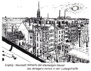 Häuser an der Ludwigstraße, Leipzig-Neustadt, 1992