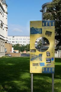 Erinnerungstafel an das Naundörfchen an der Lessingstraße, 2014