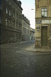 L.-Neuschönefeld, Melchiorstraße im mOktober 1974