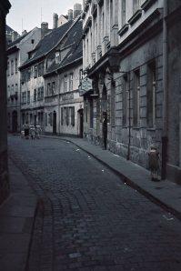 L.-Naundörfchen, Straßenverlauf Richtung Ranstädter Steinweg, 1940