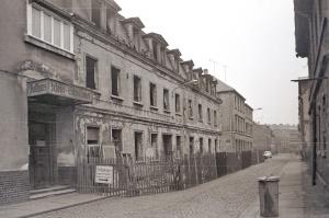 """1976 abgerissenen Gaststätte """"Sanssouci"""" in der O.-Runki-Straße"""
