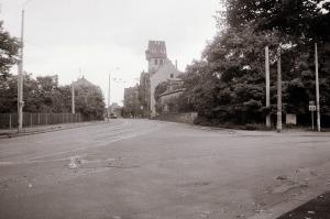 Blick zum Schönefelder Rathaus, August 1988