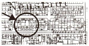 Grundstücke der Verleger-Familie Henze (um 1910)