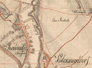 """Ausschnitt Stadtplan von 1802 mit dem """"Rabeth"""""""