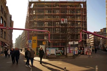 Leipzig, Brühl / Ecke Hainstraße, im Februar 2015