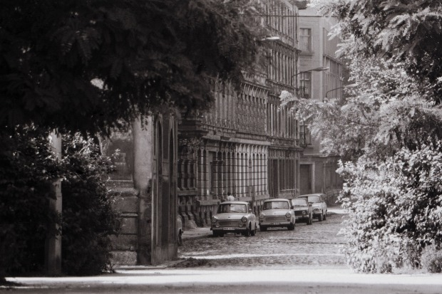 L.-Reudnitz, Blick vom Rabet in die Elsastraße, September 1987