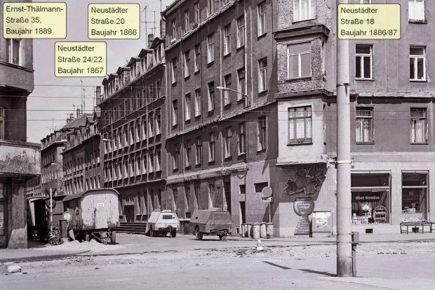L.-Neustadt, Neustädter/ Ecke Ernst-Thälmann-Str., April 1990