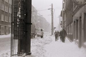 Leipzig, Ernst-Thälmann-Straße, Januar 1987