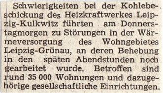 Sächsisches Tageblatt, 16. Januar 1987