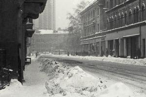 Leipzig, Rosa-Luxemburg-Straße, im Januar 1987
