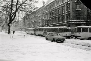 Leipzig-Stötteritz am Weißeplatz, im Januar 1987