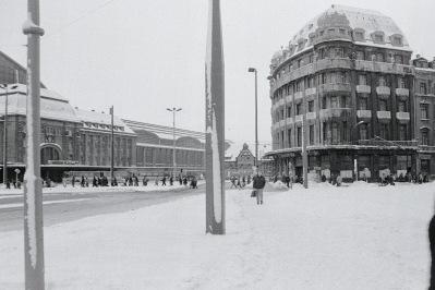 Leipzig, am Hauptbahnhof-Ostseite, Januar 1987
