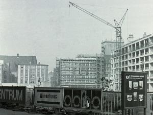 Leipzig. Bauplatz Seminargebäude, im Oktober 1969