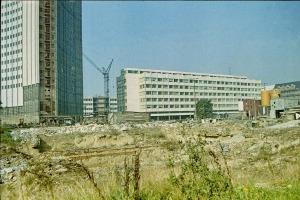 Leipzig, Uni-Baustelle am Karl-Marx-Platz im Juli 1974