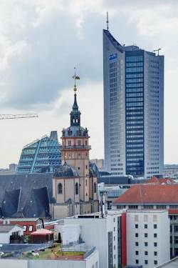 Leipzig, City-Hochhaus vom Norden, Oktober 2013