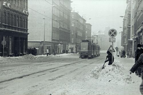 Leipzig-Nst./Nsf, Ernst-Thälmann-Str. im Januar 1979