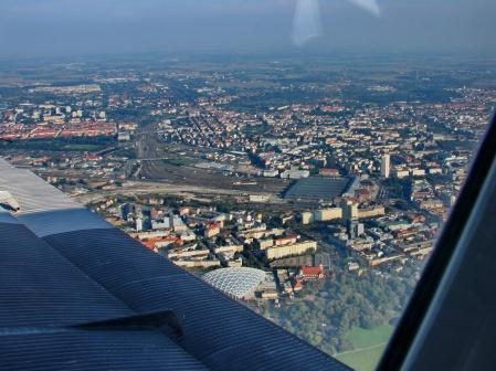 Blick auf Leipzig, September 2011