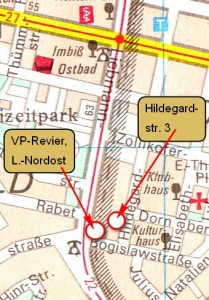 Auszug aus dem Stadtplan Leipzig, 1983