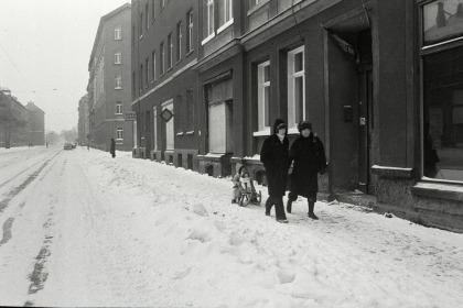 L.-Reudnitz, Riebeckstraße zu Neujahr 1979