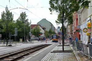 Leipzig, Eisenbahnstraße <br>mit Blick zur Stadt, Juli 2015