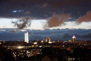 Sommergewitterwolken am 19. Juli 2015 über Leipzig