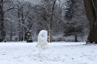 Nochmals Winter im Friedenspark.