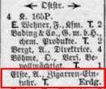 Eintrag Leipziger Adreßbuch 1923