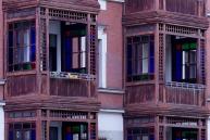 die schönen Balkone am Möbiusplatz, Blick nach Norden