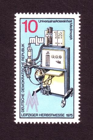 MLW-Erzeugnis auf der Messe-Sondermarke der DDR zur LHM 1975