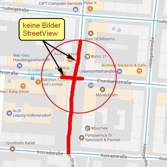 Aufnahmebereich GoogleStreetView