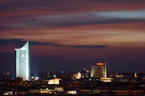 beleuchtete Innenstadt